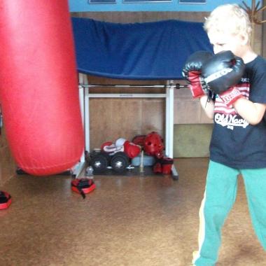 Boks -Trening personalny uroczego 6-letniego Hubercika_11