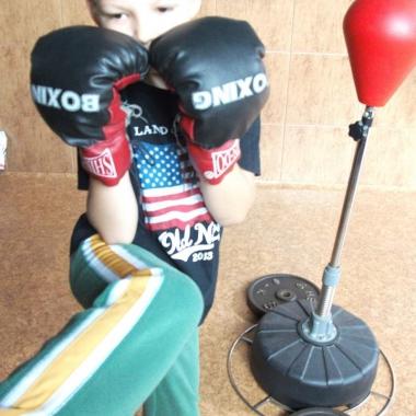 Boks -Trening personalny uroczego 6-letniego Hubercika_3